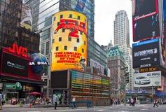 Tider fyrkantiga New York City arkivbild