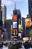 Tider kvadrerar New York Arkivbilder