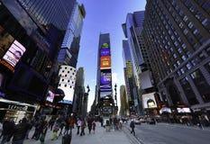 Tider kvadrerar New York Arkivbild