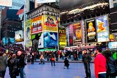 Tider Square, Manhattan NYC fotografering för bildbyråer