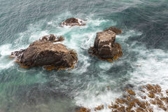 Tides at Nugget Point Lighthouse Royalty Free Stock Images