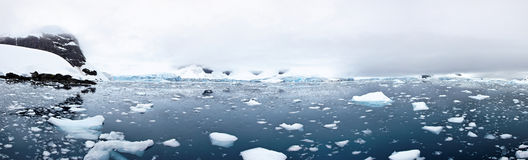 Tidewater glacier, Paradise Bay, Antarctica Stock Image