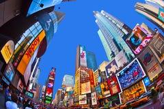 Tidfyrkanten är ett symbol av New York Royaltyfria Bilder