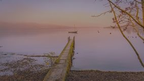 Tidig afton på sjön Windermere arkivbild
