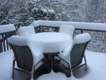 Tidig December snö Arkivbild