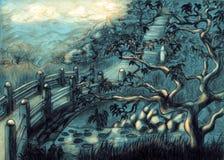 tidig dold morgonrelikskrin Arkivbild