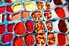 tidig erbjudna ro för blommamarknad morgon Royaltyfria Foton