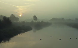 tidig fiskemorgon Arkivfoton