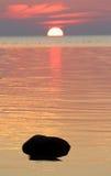 Tidig höst på den Riga Gulf Coast Royaltyfria Bilder