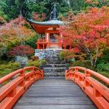 Tidig höst på den Daigoji templet i Kyoto Arkivfoto