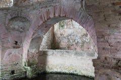 Tidig kristen baptistery Arkivfoton
