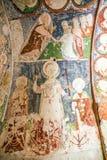 Tidig kristen freskomålning i den ortodoxa kyrkan El Nazar, Cappadocia, Turkiet för grotta Goreme öppet museum, Anatolien Royaltyfri Fotografi