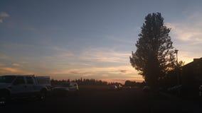 Tidig solnedgång Fotografering för Bildbyråer
