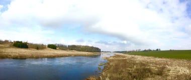 Tidig vår n Litauen Mars 2016 Arkivfoto