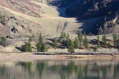 Tidig vår på den Flathead floden Fotografering för Bildbyråer