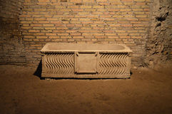 Tidiga Christian Sarcophagus Royaltyfri Foto