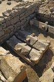 Tidiga kristna gravar i ampurias Arkivfoto