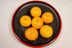 Tidiga mogna apelsiner i Japan Fotografering för Bildbyråer