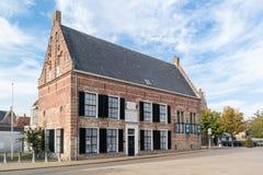 Tidigare barnhem i Franeker, Friesland, Nederländerna Royaltyfria Foton