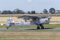 Tidigare flygvapen för kunglig australier RAAF Taylorcraft Auster Mk ljust flygplan VH-MHT A11-49 för enkel motor 3 Arkivfoton
