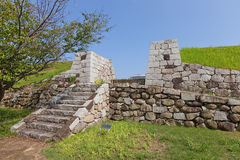 Tidigare Hanebashimon port av Ako Castle, Ako stad, Japan Royaltyfri Bild