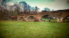 tidigare järnvägsbro fotografering för bildbyråer