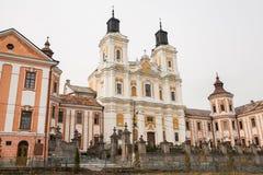 Tidigare jesuitkloster och seminarium, Kremenets, Ukraina Royaltyfria Foton