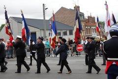 Tidigare kämpemarsch för den nationella dagen av 14 Juli, Fr Royaltyfria Bilder