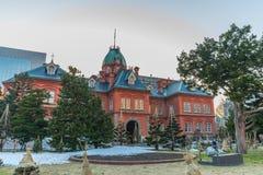 Tidigare kontor för röd tegelsten för Hokkaido kanslibyggnad Royaltyfria Bilder