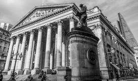 Tidigare kunglig utbytesbyggnad i staden av London - LONDON - STORBRITANNIEN - SEPTEMBER 19, 2016 Royaltyfri Foto