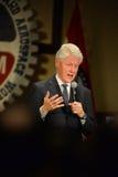Tidigare president Bill Clinton Speaks på Hillary Rally Fotografering för Bildbyråer