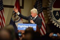 Tidigare president Bill Clinton Speaks på Hillary Rally Arkivfoton