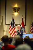 Tidigare president Bill Clinton Speaks på Hillary Rally Royaltyfri Fotografi