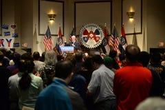 Tidigare president Bill Clinton Speaks på Hillary Rally Royaltyfria Foton