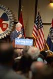 Tidigare president Bill Clinton Speaks till Hillary Supporters Fotografering för Bildbyråer