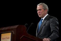 Tidigare president George W. Bush Arkivbild