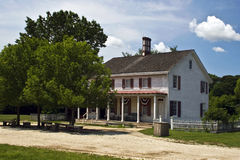 tidigt historiskt hus för american Royaltyfri Fotografi