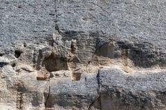 Tidigt medeltida vaggar den lättnadsMadara ryttaren från perioden av första bulgariska välde, listan för UNESCOvärldsarvet, den S Arkivbild