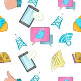 Tidings pattern, cartoon style. Tidings pattern. Cartoon illustration of tidings vector pattern for web Royalty Free Stock Photos