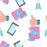 Tidings pattern, cartoon style. Tidings pattern. Cartoon illustration of tidings vector pattern for web Stock Photos