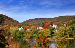 Tidioute town in Pennsylvania. Scenic Tidioute Small town in Pennsylvania state in autumn time Royalty Free Stock Photography