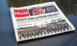 Tidning av Montreal Royaltyfria Bilder