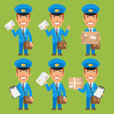 Tidning för packe för brevbärareinnehavbokstav vektor illustrationer