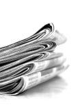 Tidningar Fotografering för Bildbyråer