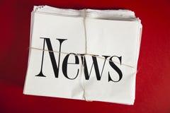 Tidningsbunt royaltyfri bild