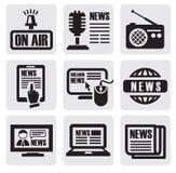 Tidningsmedelsymboler Arkivfoton