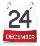 Tidsbeställning för händelse för December 24th kalenderferie Fotografering för Bildbyråer