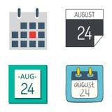 Tidsbeställning för plan för papper för diagram för affär för organisatör för kontor för symboler för vektorkalenderrengöringsduk vektor illustrationer
