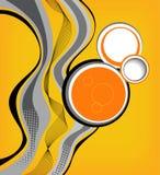 Tidskrift eller broschyr, linjer och cirklar för kurva för vektordesignvåg vektor illustrationer