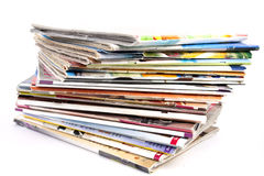 tidskriftbunt fotografering för bildbyråer